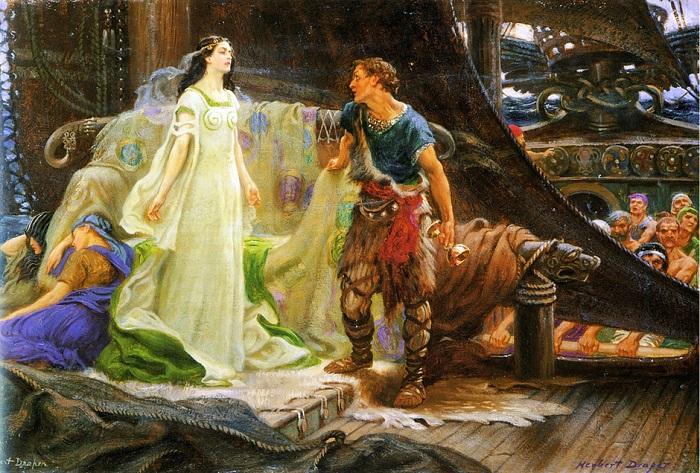 Тристан и Изольда. Картина Герберта Джеймса Дрейпера.